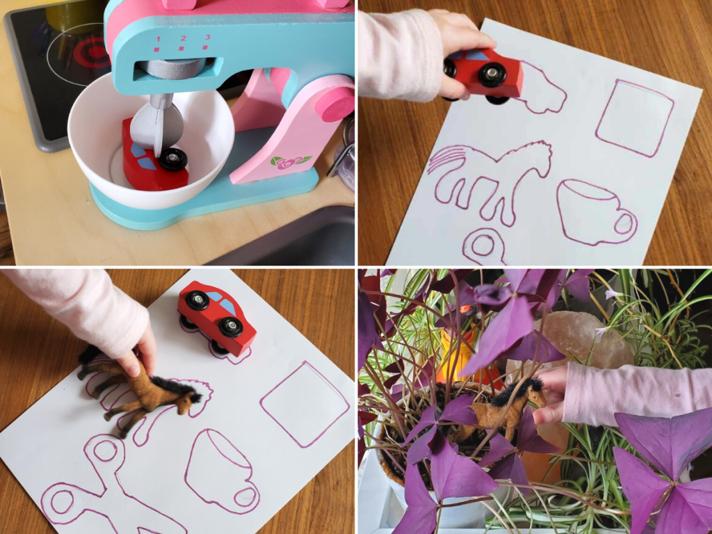 Toys are hidden around a home and found by a child in this toy scavenger hunt.